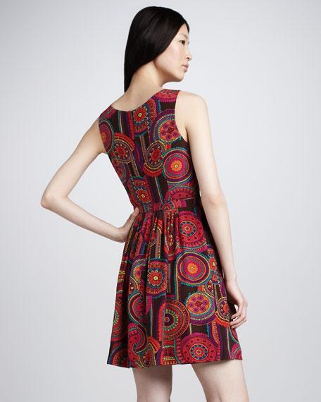 Millicent Medallion-Print Dress