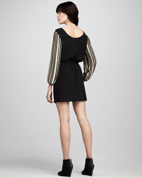 Galaxy Bead-Sleeve Dress