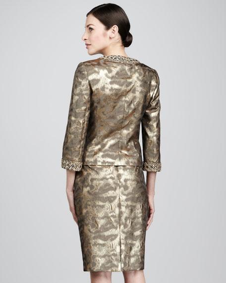 Metallic Animal-Print Suit