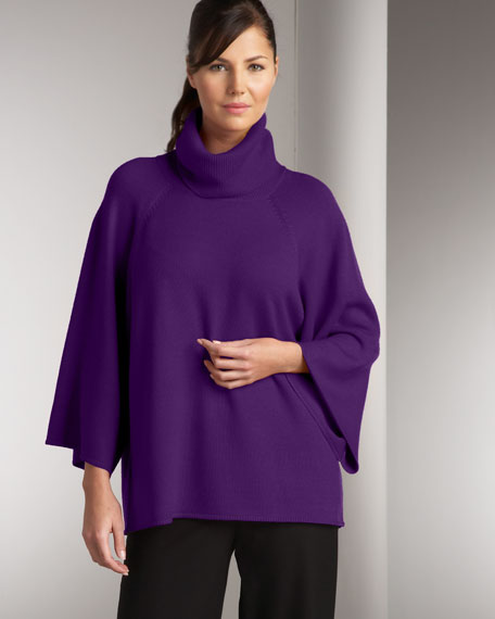 Turtleneck Poncho Top, Women's