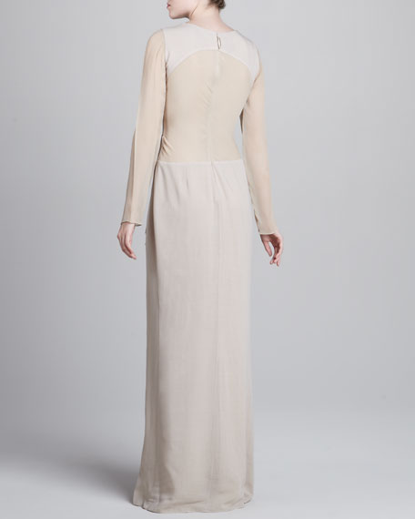 Long-Sleeve Gauze Gown