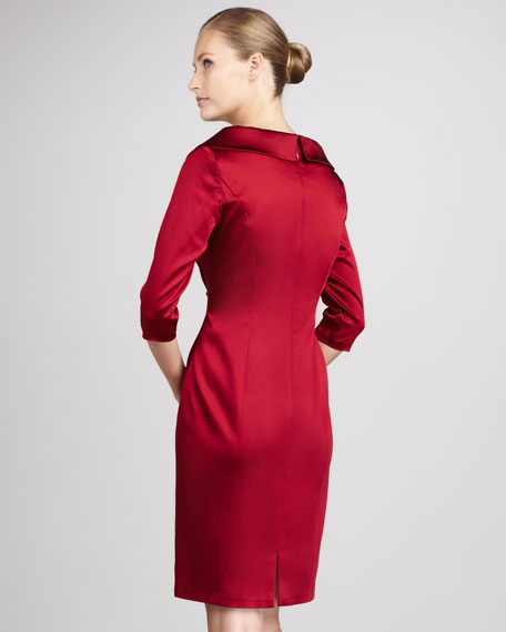 Women's Shawl-Collar Cocktail Dress