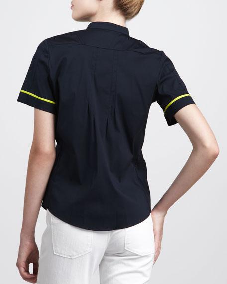 Neon-Trimmed Tux Shirt
