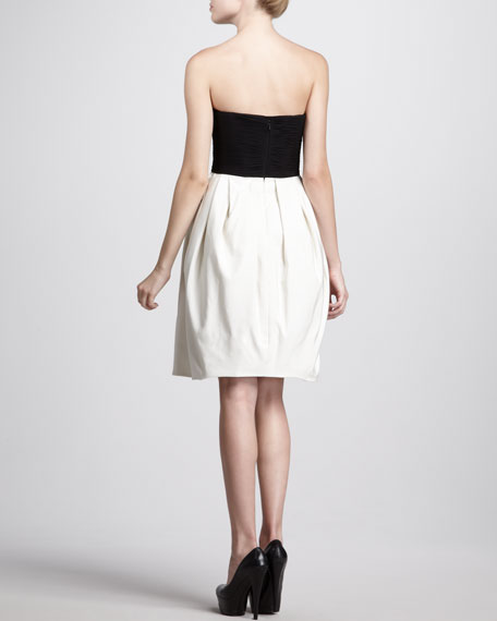 Two-Tone Strapless Dress