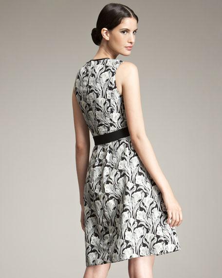 Printed Silk A-Line Dress