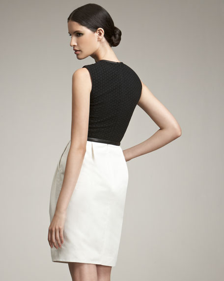 Lace & Silk Cocktail Dress