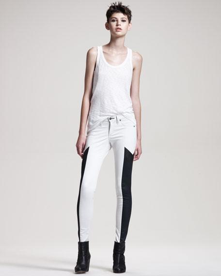 Grand Prix Paneled Leggings, Winter White