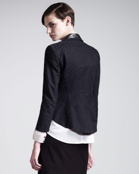 Metropolis Leather-Lapel Tuxedo Jacket