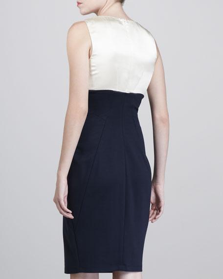 Two-Tone Techno Jersey Dress