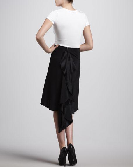 Silk Charm Cascade Back Skirt