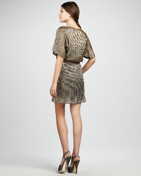 Sin City Metallic Knit Dress