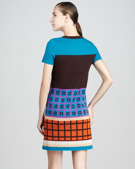 freyda geometric-print dress