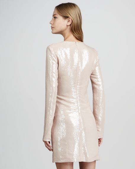 Menaro Sequined Long-Sleeve Dress