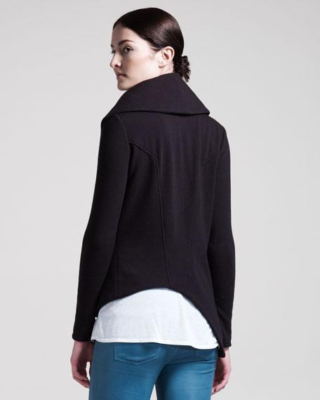 Soft Zip Sweatshirt, Black
