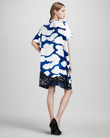 Diane Hanky Sky Scarf Printed Dress
