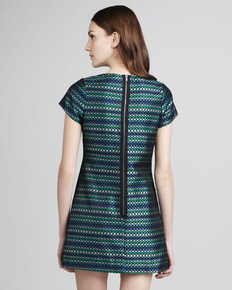 Julia Short-Sleeve Shift Dress