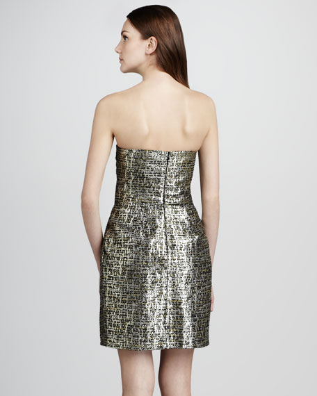 Sylvie Strapless Jacquard Dress