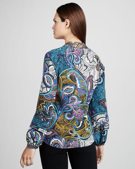 Gabriella Paisley-Print Blouse