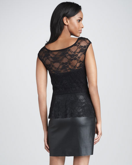 Curfew Lace/Leather Dress