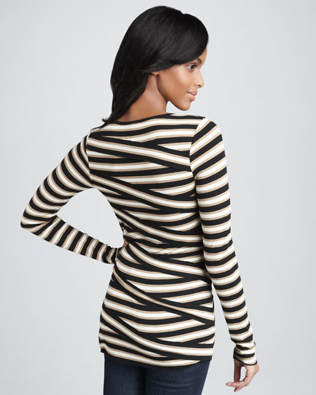 Asymmetric-Stripe Top
