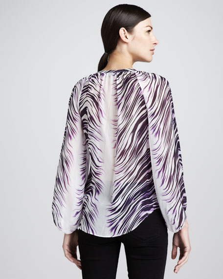 Discover Silk-Printed Blouse