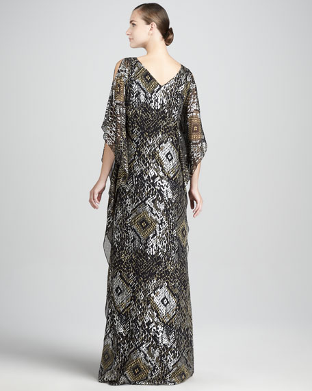Beaded Caftan Gown