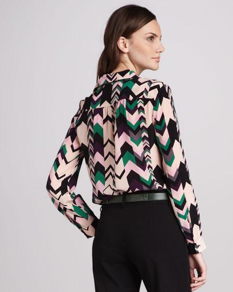 Zigzag Silk Blouse