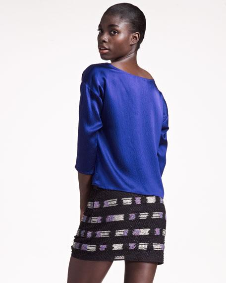 Seed-Bead Miniskirt