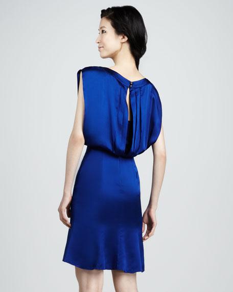 Blouson Keyhole Dress