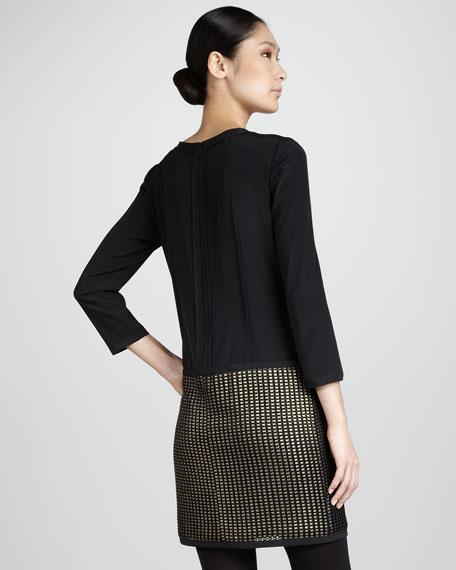 System Gold-Blocked Dress