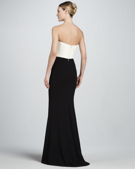Strapless Two-Tone Gown