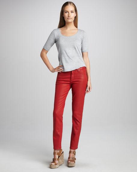 Sheri Coated Skinny Jeans, Petite