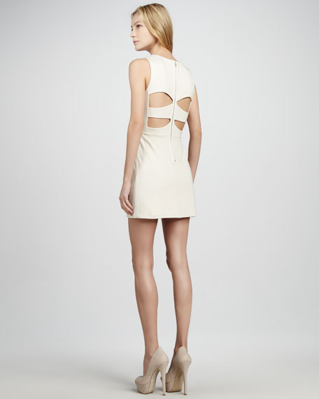 Sleeveless Sequin-Lace Dress