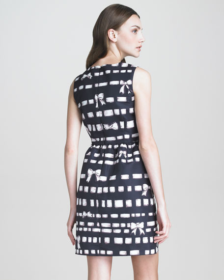 RED Valentino Bow-Print Faille Dress