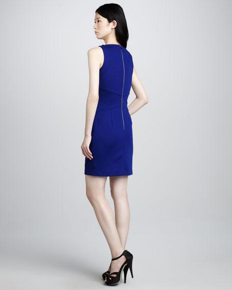 Wrap-Detail Sweetheart Dress