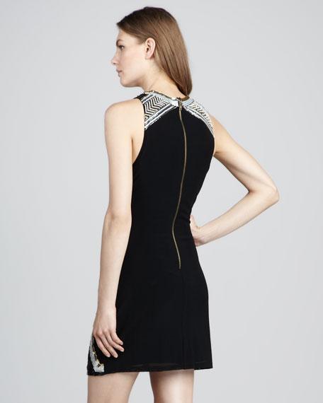 Sequin-Pattern Cocktail Dress