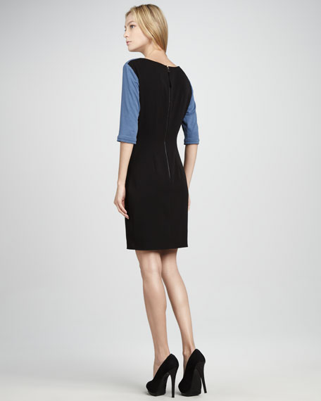 Split-Neck Knit Dress