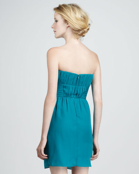 Nahla Strapless Ruched Dress