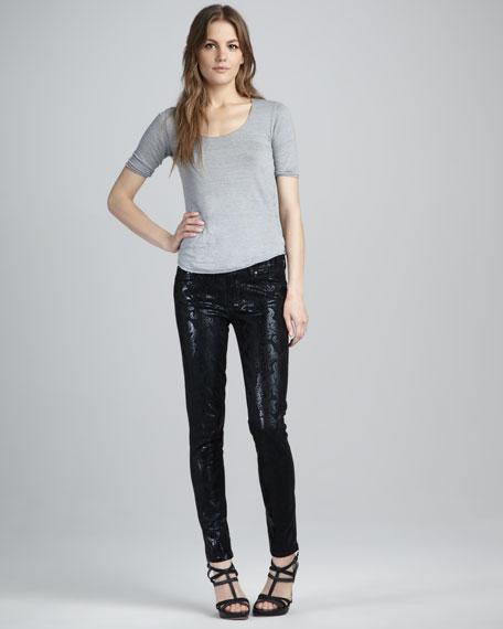 Verdugo Black Foil Damask Jeans