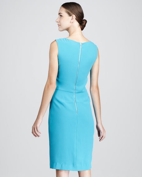 Basic Faux-Wrap Dress