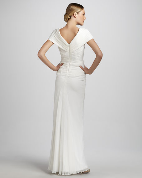 Off-the-Shoulder Gown with Beading