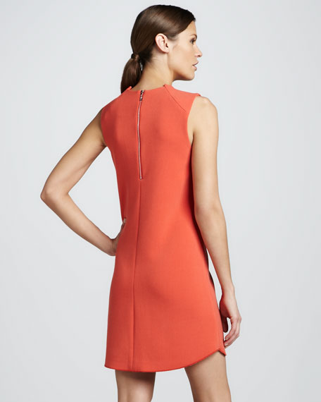 Scalloped-Hem Shift Dress