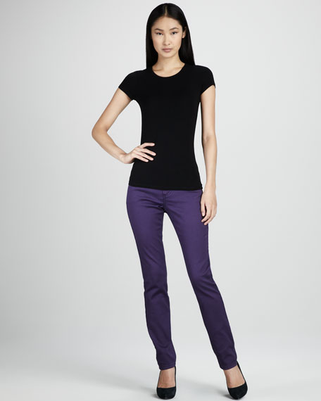 Saddie Straight-Leg Jeans, Cool Colors