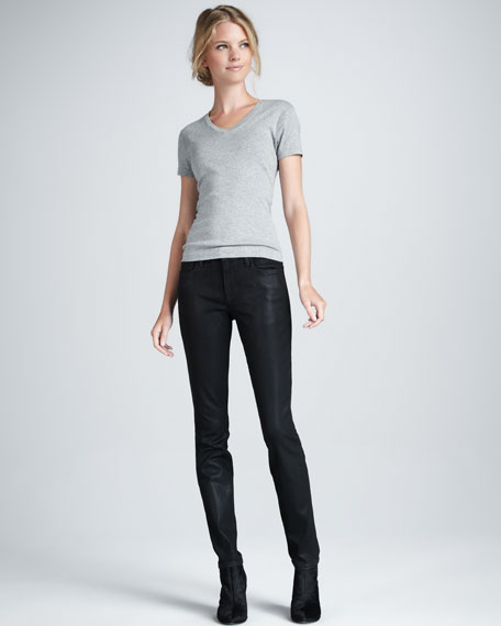 The Coated Skinny Jeans