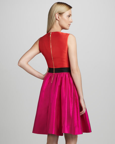 normandy colorblock sleeveless dress