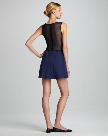 Lulu Mesh-Inset Dress