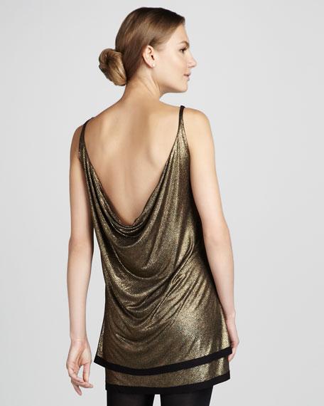 Little Dipper Metallic Dress