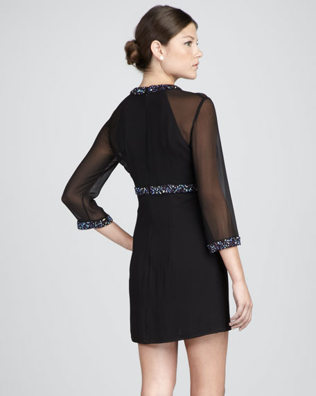 Magic Sheer-Sleeve Dress