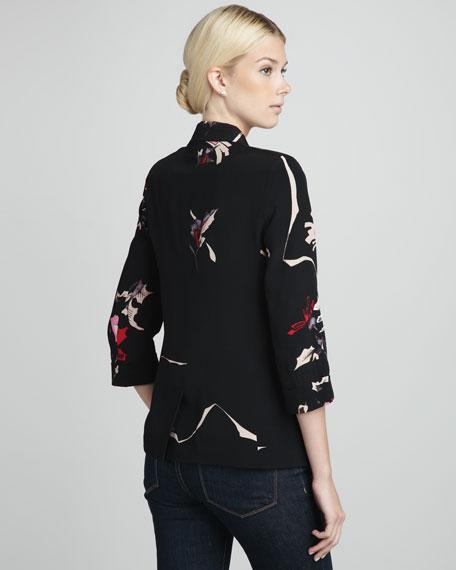 Floral-Pattern Blazer