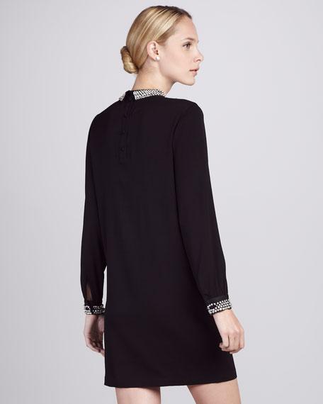 Jewel-Trim Dress